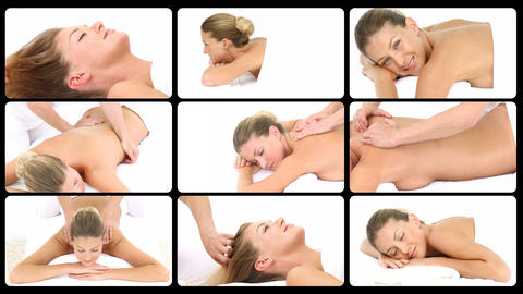 Montage presenting Relaxing spa treatments Animation