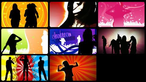 Stock animation presenting people on the dancefloo Animation