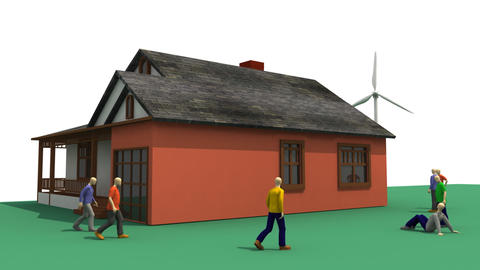 3D animation presenting the wind energy Animation