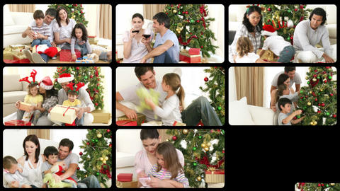 3D animation of families during Christmas Animation