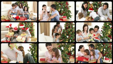 Montage presenting Christmas celebration Animation