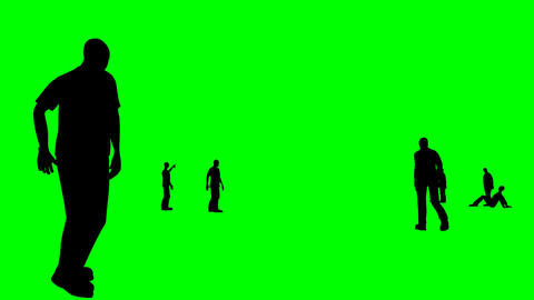 Animation of silhouettes talking together Stock Video Footage