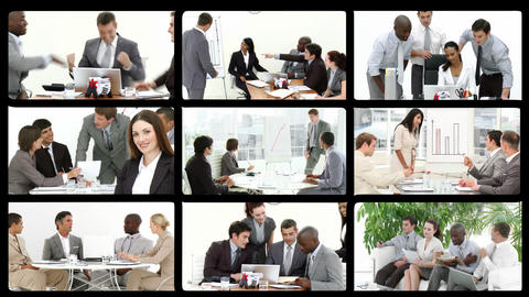 Montage of presenting the concept of teamwork Stock Video Footage