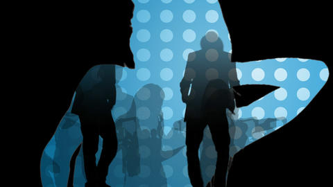 Animation showing young people in a night club Stock Video Footage