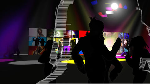 People dancing in a night club Animation
