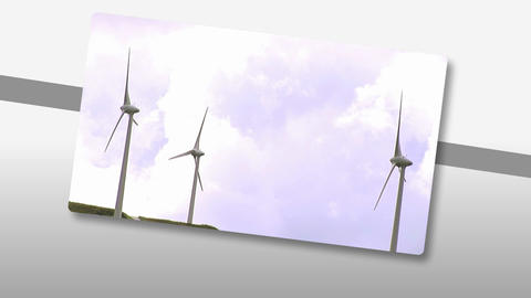 Animation Presenting The Concept Of Wind Power stock footage