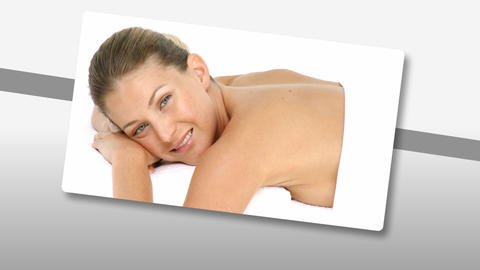 Montage of a relaxed woman enjoying a Spa treatmen Animation