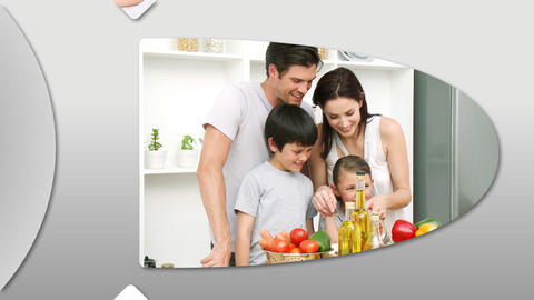 Joyful families having fun at home Animation