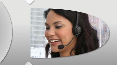 Animation presenting confident customer service representatives Animation
