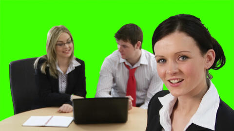 Green Screen Business meeting Footage