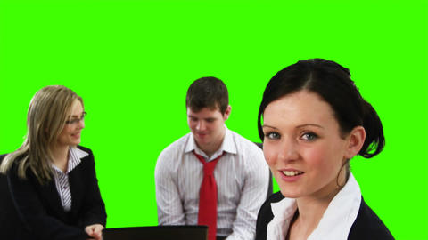 Chroma Key Footage of a business meeting Footage