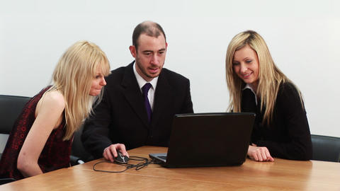 Business team at a meeting Footage