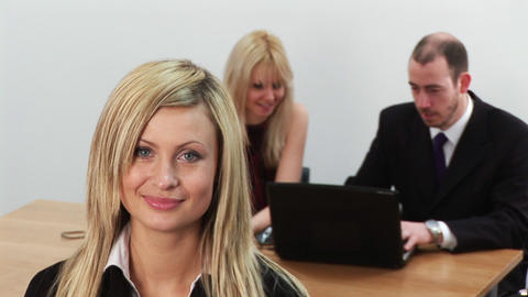 Young Business Team at work 1 Stock Video Footage