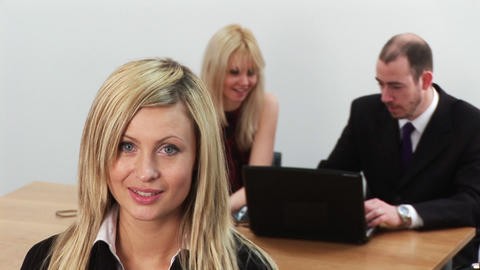 Young Business Team at work 1 Footage