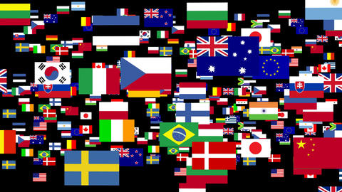 Flags of the world animated 2 Animation