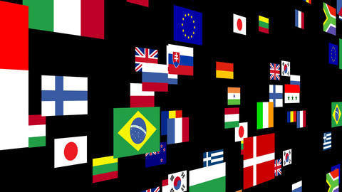 Flags of the world animated 4 Animation