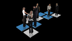 Abstract Business footage of business people Animation