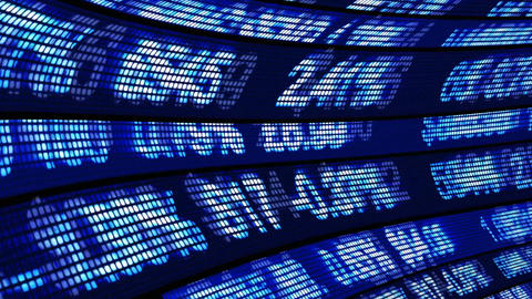 Stock market ticker in Motion Animation