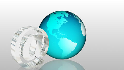 Email Global Communication 2 Stock Video Footage