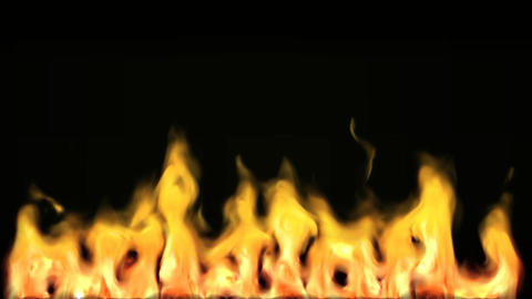 3 Fire animation 2 Stock Video Footage