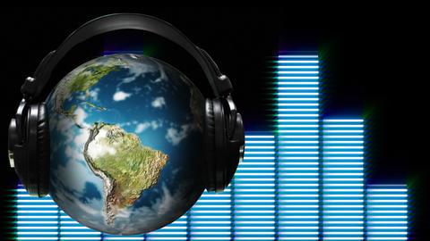Concept animation of world Music Animation