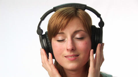 Woman listening to Music Footage