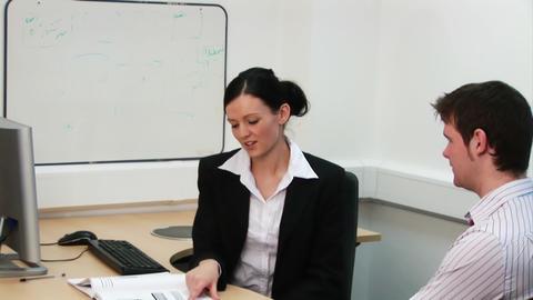 Businesswoman Conducting an Appraisal Footage