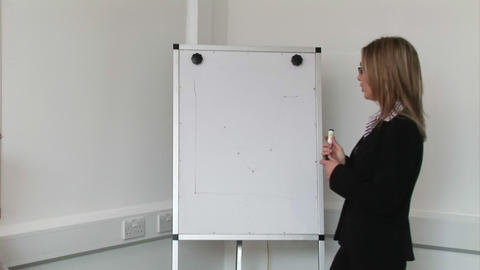 Woman giving a Business Presentation Stock Video Footage