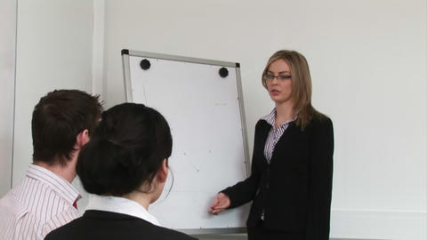 Woman giving a Business Presentation Footage