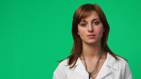 Female Doctor in a hospital Stock Video Footage