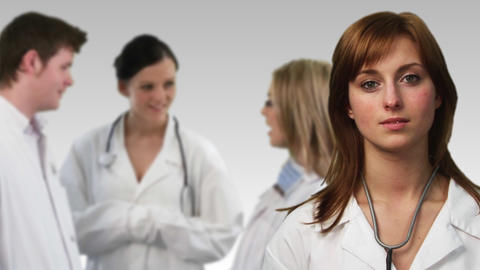 Group of Doctors working in a hospital Footage