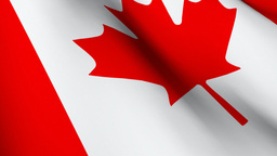 3D Animated Flag of Canada Animation
