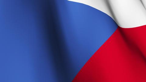 Czech Republic Flag Stock Video Footage