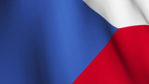 Czech Republic Flag Footage