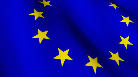 EU National Flag stock footage
