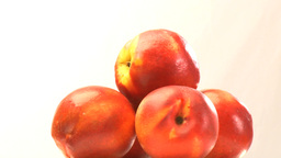 Pyramid of nectarines Stock Video Footage