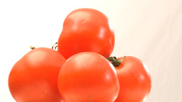 Rotary pyramid of tomatoes Stock Video Footage