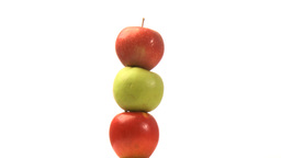 Three different apples Stock Video Footage