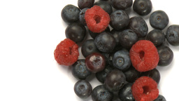 raspberries and blueberries Footage
