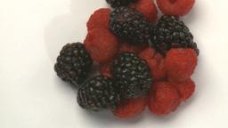 rasberries and blueberries 3 Footage