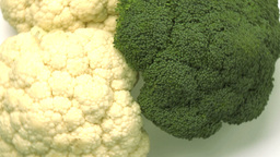 cauliflower and broccoli Footage