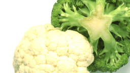 cauliflower and broccoli Stock Video Footage