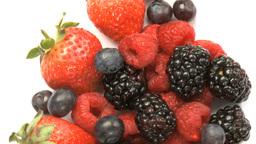 Blueberries, Strawberries, Blackberries Stock Video Footage