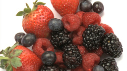 Blueberries, Strawberries, Blackberries 4 Footage