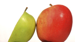 one and a half apples Stock Video Footage