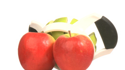 Three apples Stock Video Footage