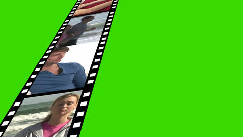 Film Reel Of Footage stock footage