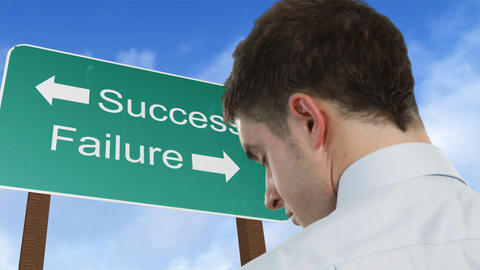 Success and failure sign Stock Video Footage