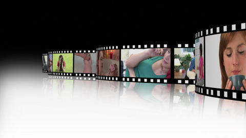Lifestyle Montage of young people 2 Stock Video Footage