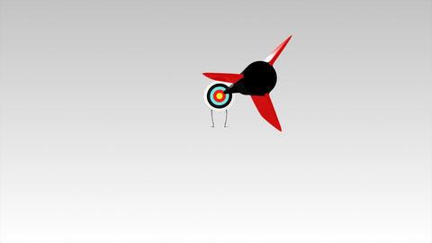 Arrow hitting a target board Footage
